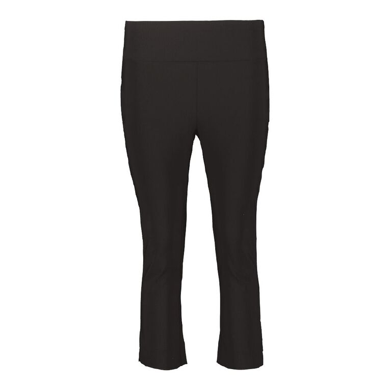 H&H Women's Bengaline Cropped Pants, Black, hi-res image number null