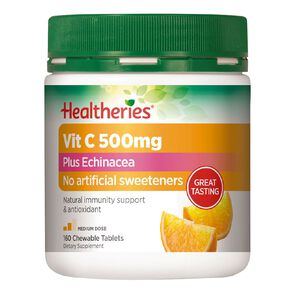 Healtheries Vit C 500mg Plus Echinacea 160s