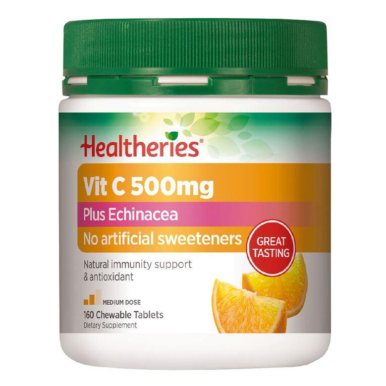 Healtheries Vit C 500mg Plus Echinacea 160s, , hi-res