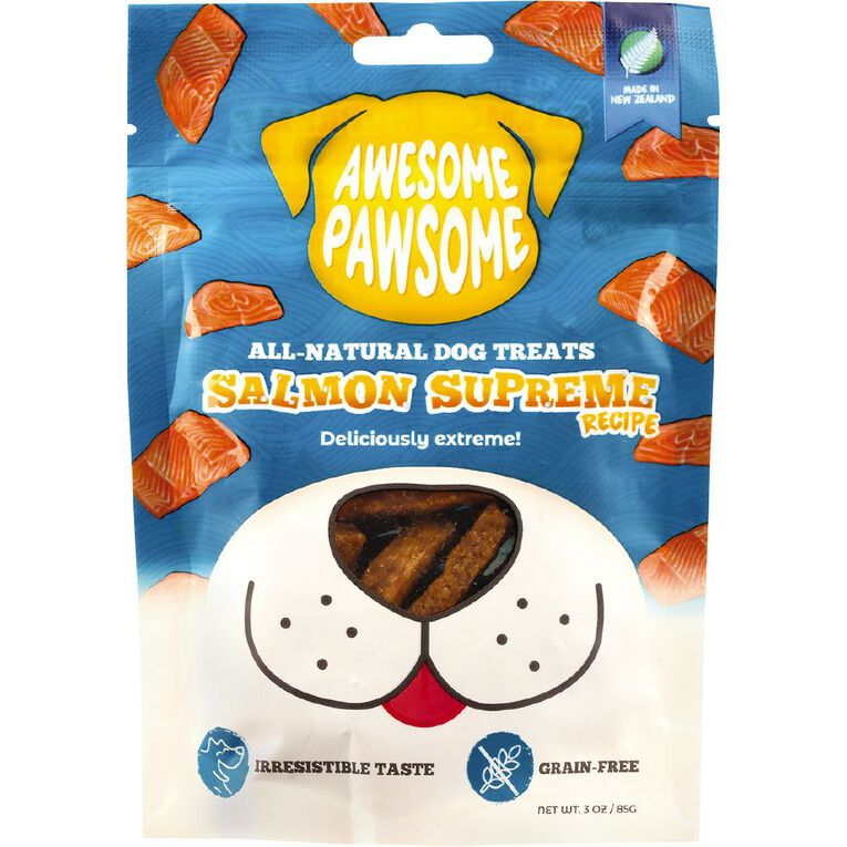 Awesome Pawsome Salmon Superme Recipe 85g, , hi-res