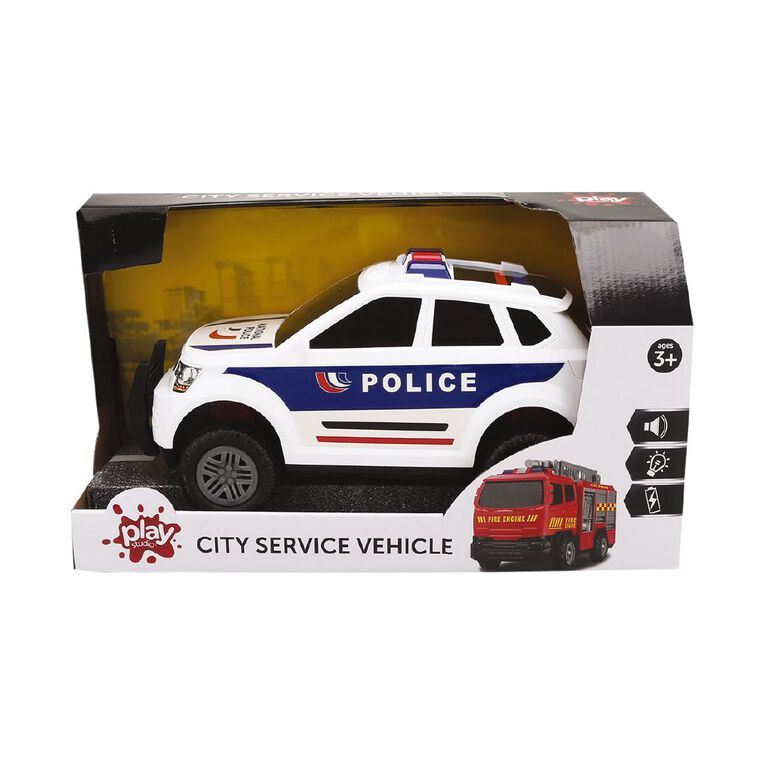 Play Studio Friction Power Police Car with Lights and Sounds, , hi-res