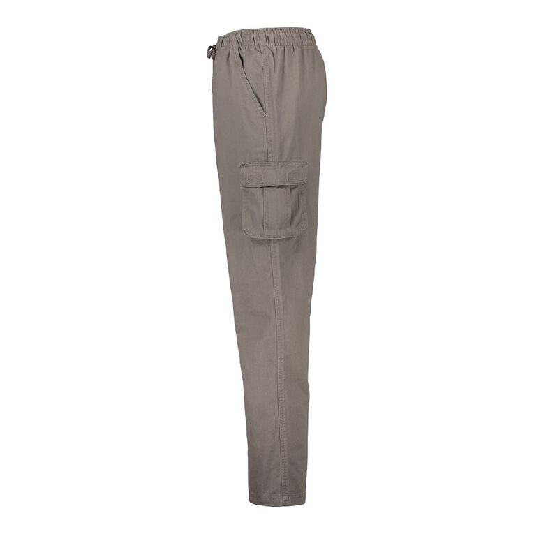 H&H Men's Elastic Waist Cargo Pants, Taupe, hi-res image number null