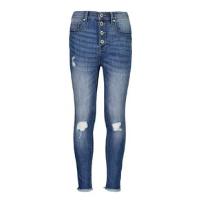 Young Original Girls' HW Distressed Jeans