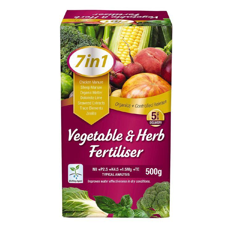 Daltons 7-in-1 Vegetable & Herb Fertiliser 500g, , hi-res