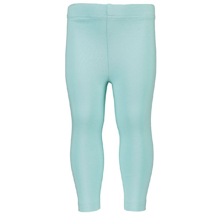 Young Original Girls' Plain Coloured Leggings, Green Light, hi-res image number null