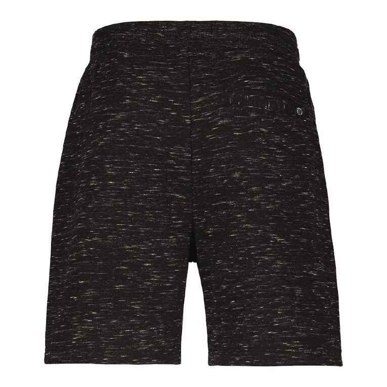 Garage Men's Space Dye Knit Shorts, Black, hi-res