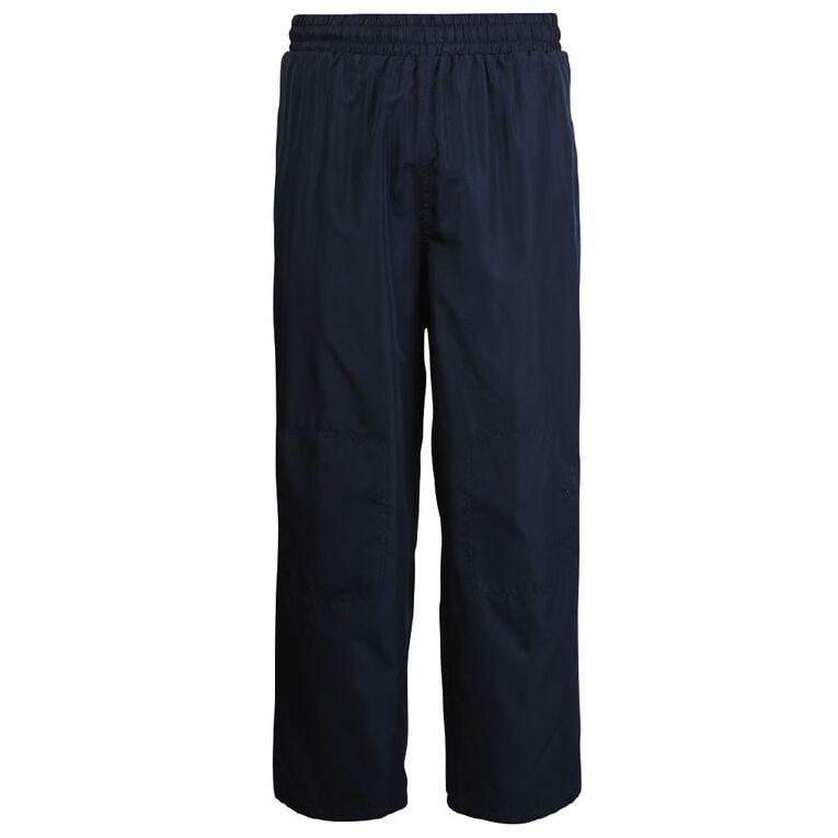 Schooltex Straight Leg Pongee Trackpants, Navy, hi-res