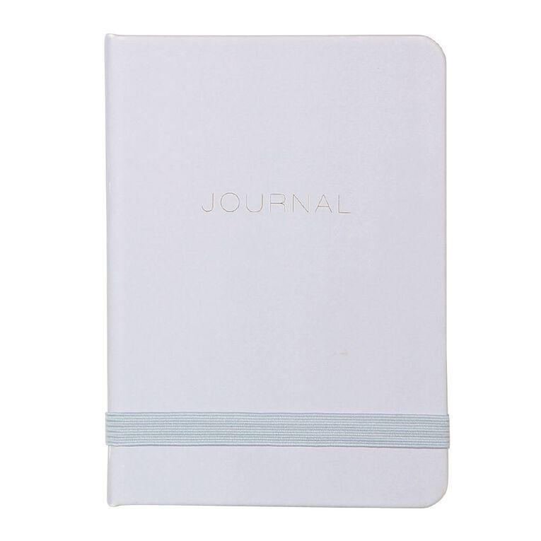 Uniti Fun & Funky Q4 PU Hardcover Journal Blue Light A6, , hi-res