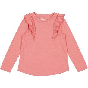 Young Original Long Sleeve Frill Front Tee