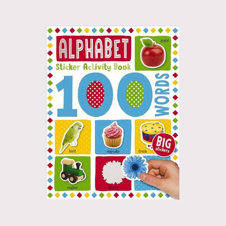 100 Word Alphabet Sticker Book, , hi-res image number null