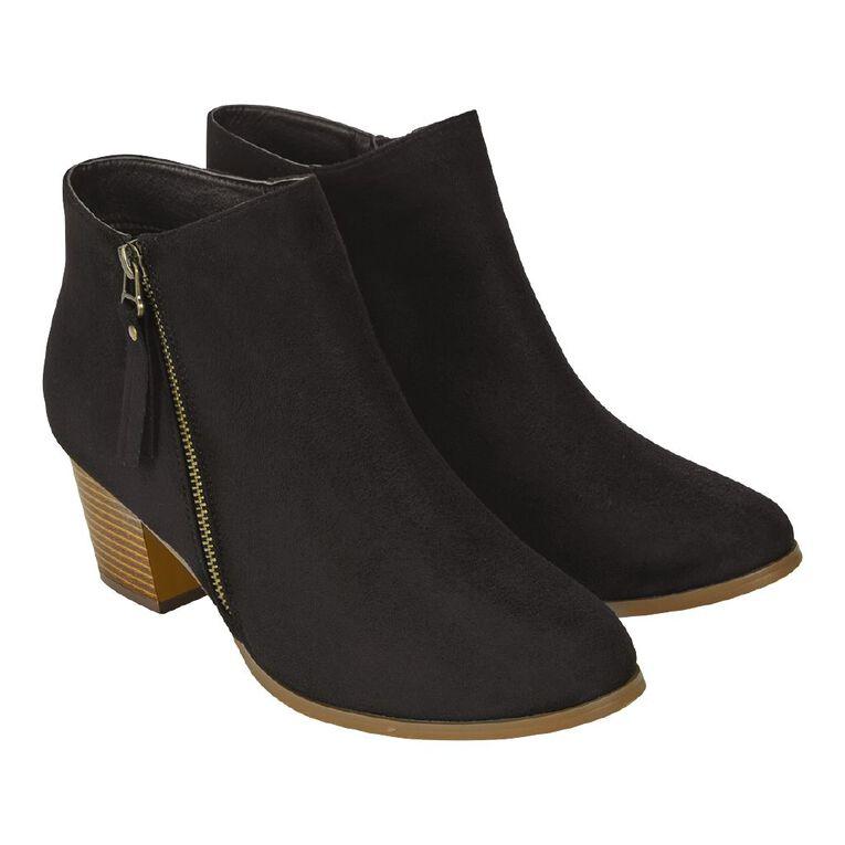 H&H Kitty Tassel Boots, Black, hi-res