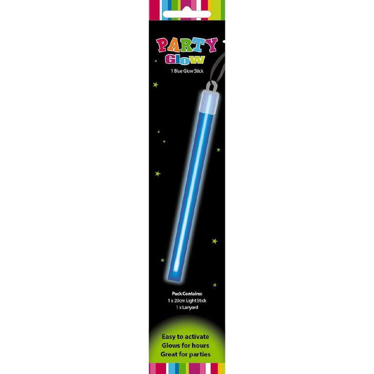 Artwrap Glow Stick Lanyard Blue 20cm, , hi-res