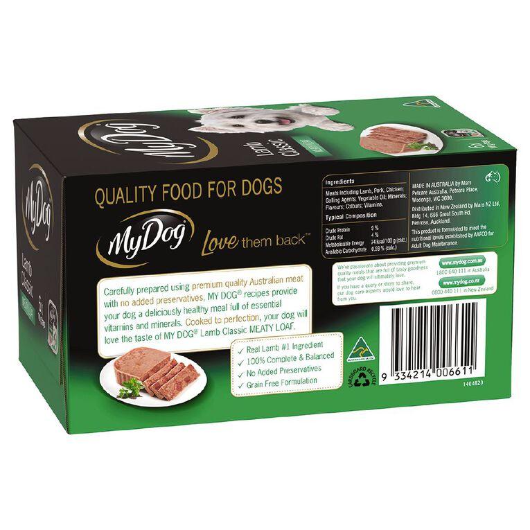My Dog Wet Dog Food Lamb Classic Meaty Loaf 6 x 100g Trays, , hi-res