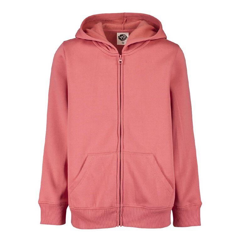 Young Original Zip-Thru Sweatshirt, Pink Mid, hi-res