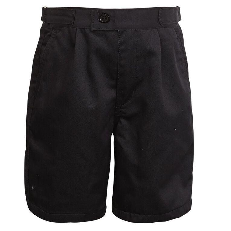 Schooltex Side Tab Summer Shorts, Black, hi-res
