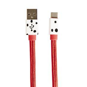 101 Dalmatians Flat USB-C Cable 2m