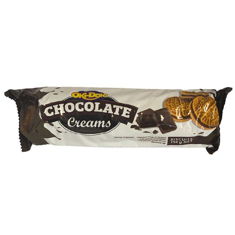 Oki Doki Chocolate Cream Biscuits 154g, , hi-res