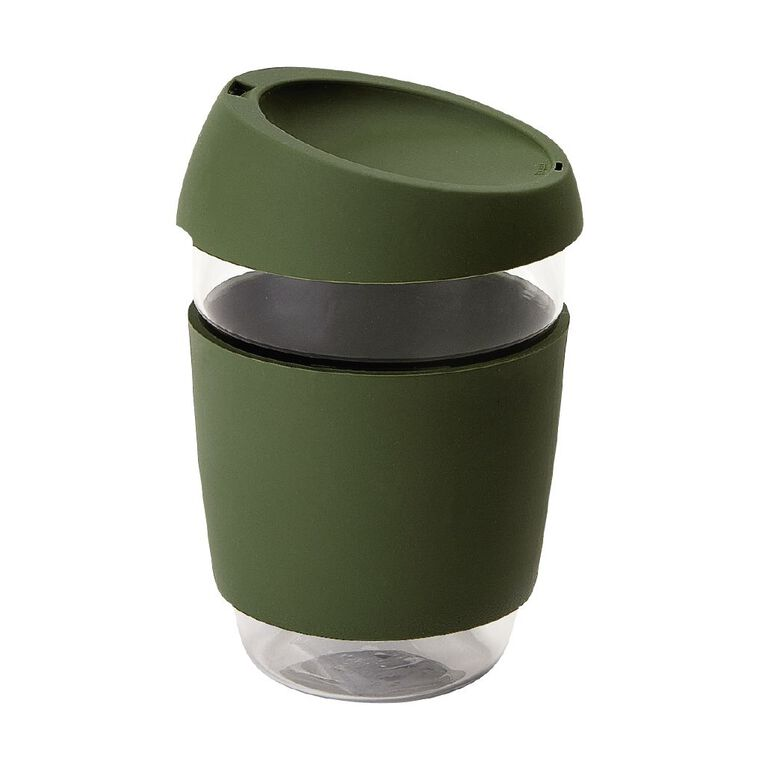 Living & Co Glass Travel Cup Khaki, , hi-res image number null