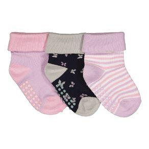 H&H Infant Girls' Turn Top Socks 3 Pack