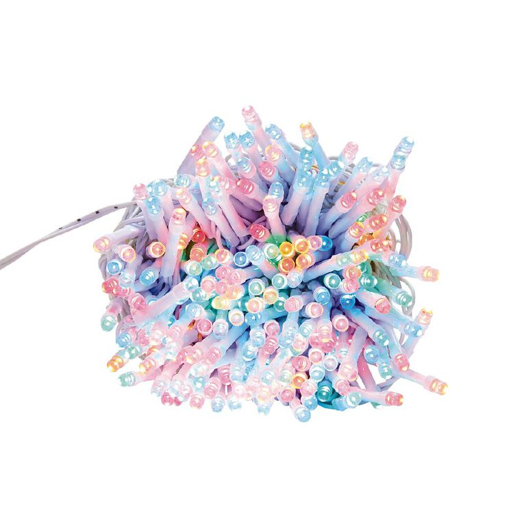 Party Inc Plug In String Lights White Wire 200 LED Multi-Coloured, , hi-res