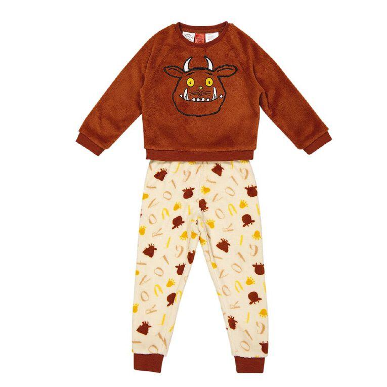Gruffalo H&H Kids' Twosie Pyjama, Brown, hi-res
