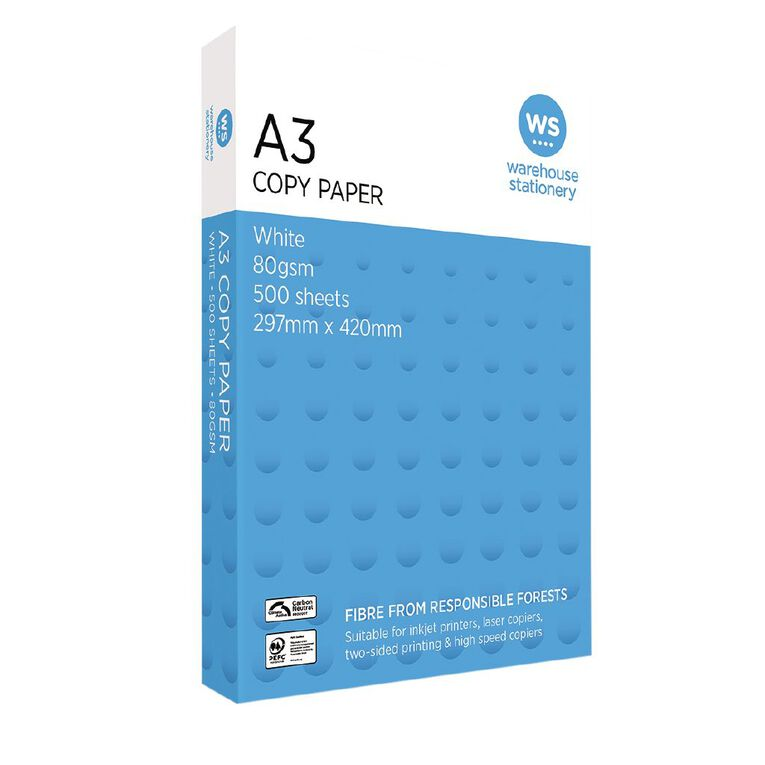 WS Copy Paper 80gsm 500 Pack white A3, , hi-res