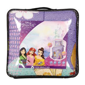 Disney Princess Comforter Set Purple King Single