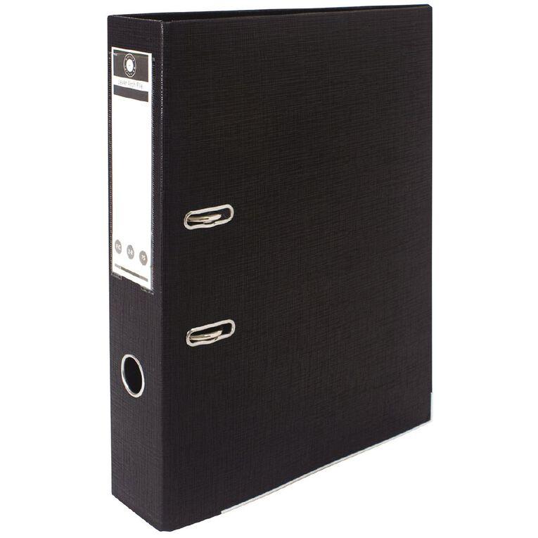 Office Supply Co Lever Arch Black Foolscap, , hi-res