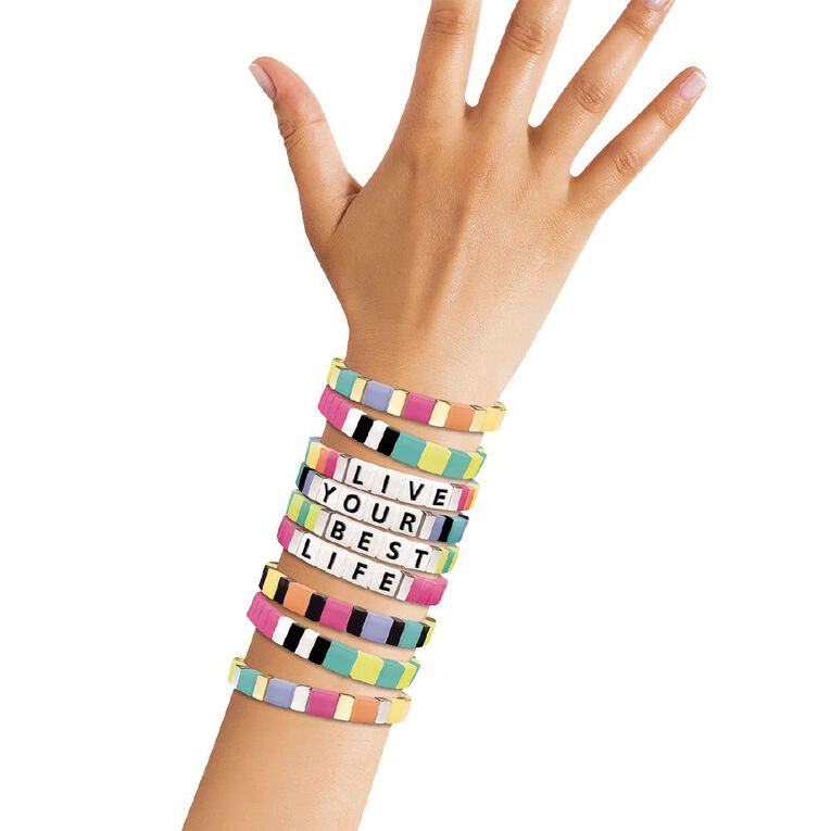 Fashion Angels Alphabet Tiles Message Bracelet Kit, , hi-res