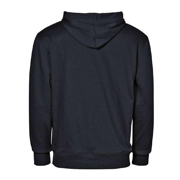 H&H Men's Plain Hooded Sweatshirt, Black, hi-res