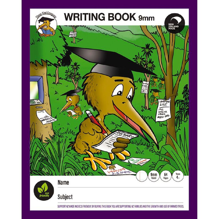 Clever Kiwi My Writing Book 2 Multi-Coloured, , hi-res