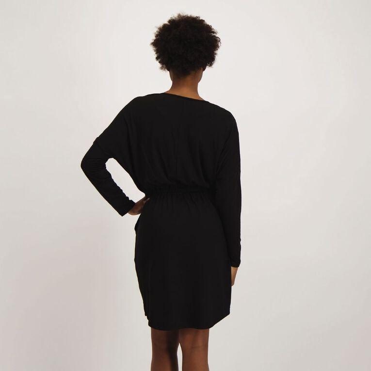 Anthem Batwing Scoop Hem Dress, Black, hi-res
