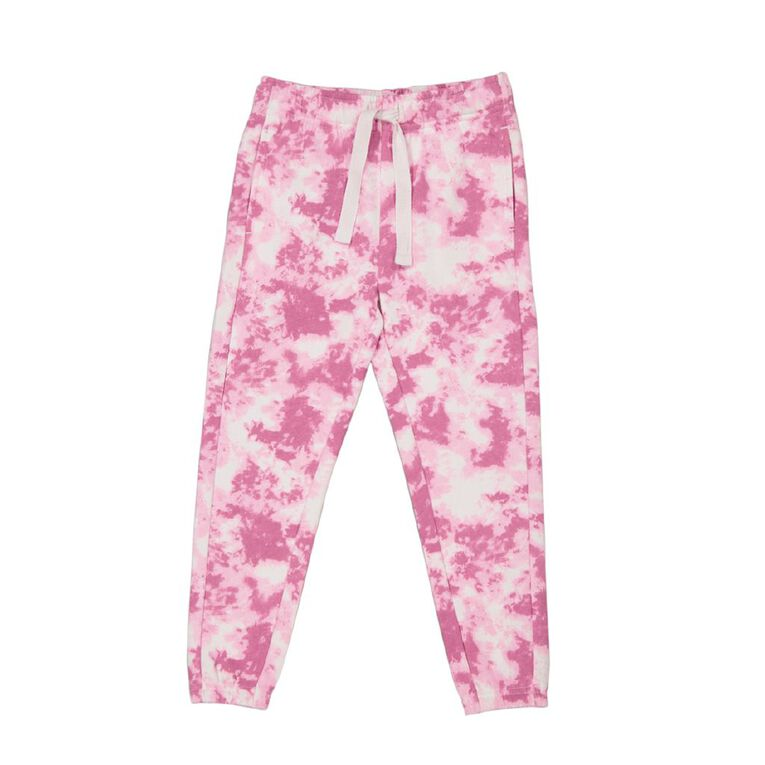 Young Original Girls' All Over Print Trackpants, White, hi-res