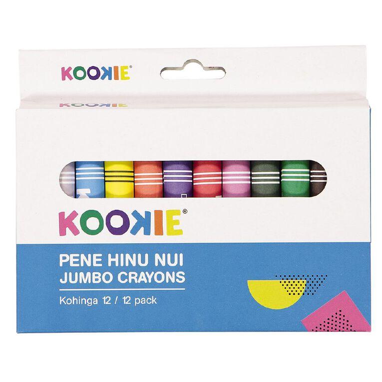 Kookie Te Reo Jumbo Crayons 12 Pack, , hi-res