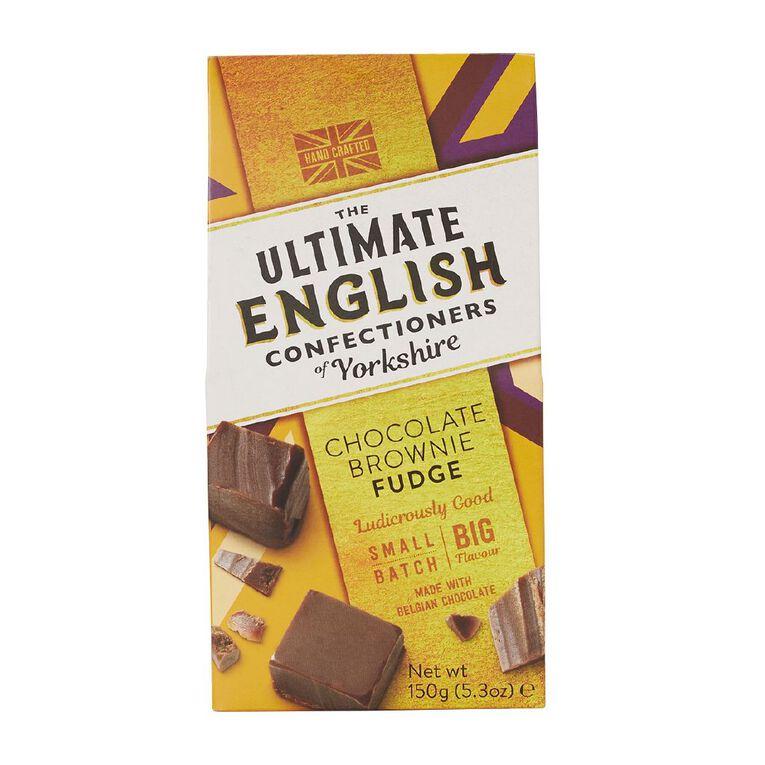 Ultimate English Ultimate English Chocolate Brownie Fudge 150g, , hi-res