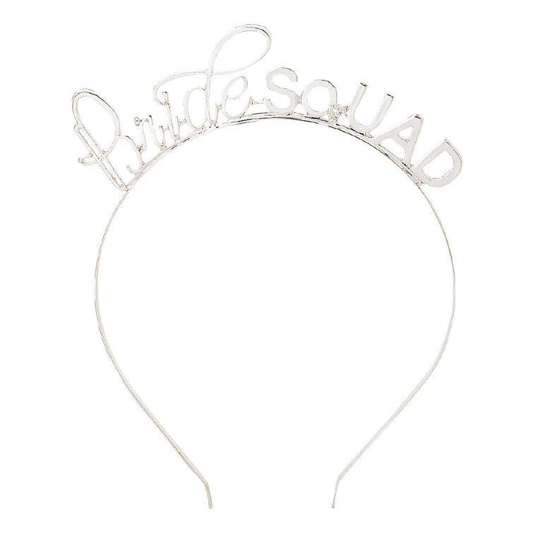 Party Inc Bridesquad Headband Silver, , hi-res