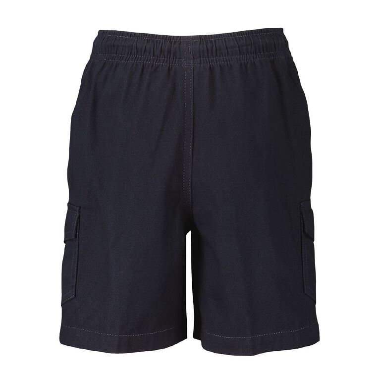 Young Original Plain Cargo Shorts, Navy, hi-res image number null