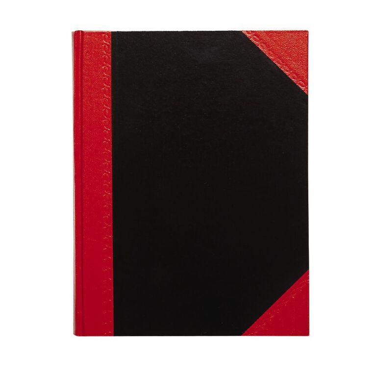 Spirax Notebook Casebound Black/Red A5, , hi-res