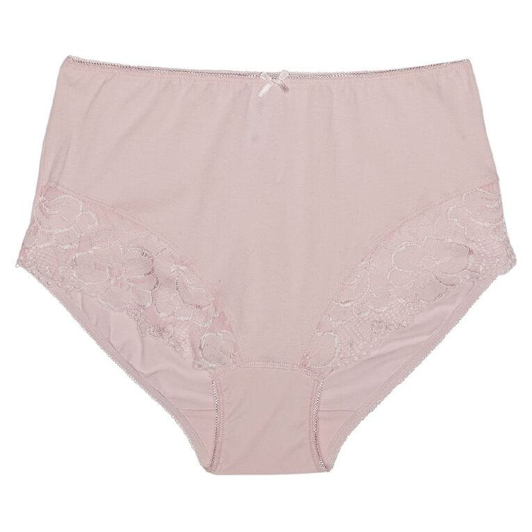 H&H Women's Lace Full Briefs, Pink, hi-res