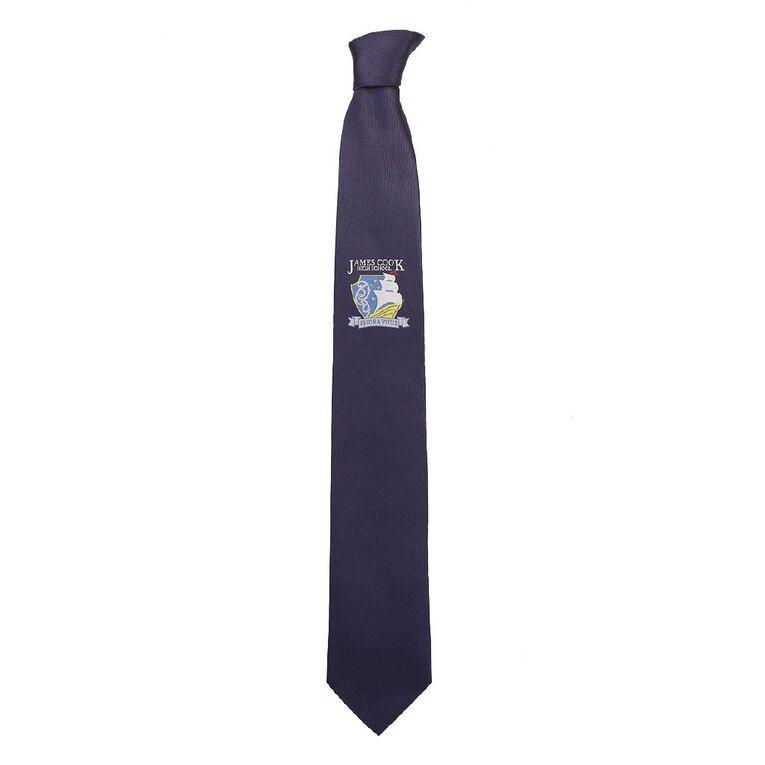 Schooltex James Cook High School Tie, Navy, hi-res