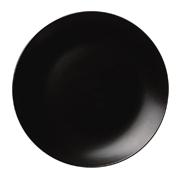 Living & Co Matte Coast Dinner Plate Black 27cm, , hi-res