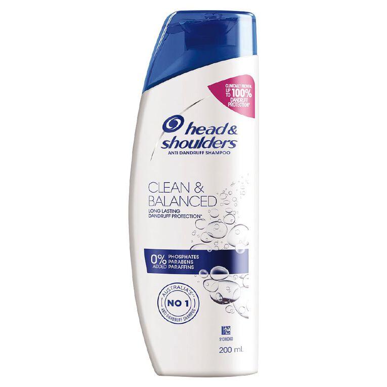 Head & Shoulders Clean & Balanced Shampoo 200ml, , hi-res