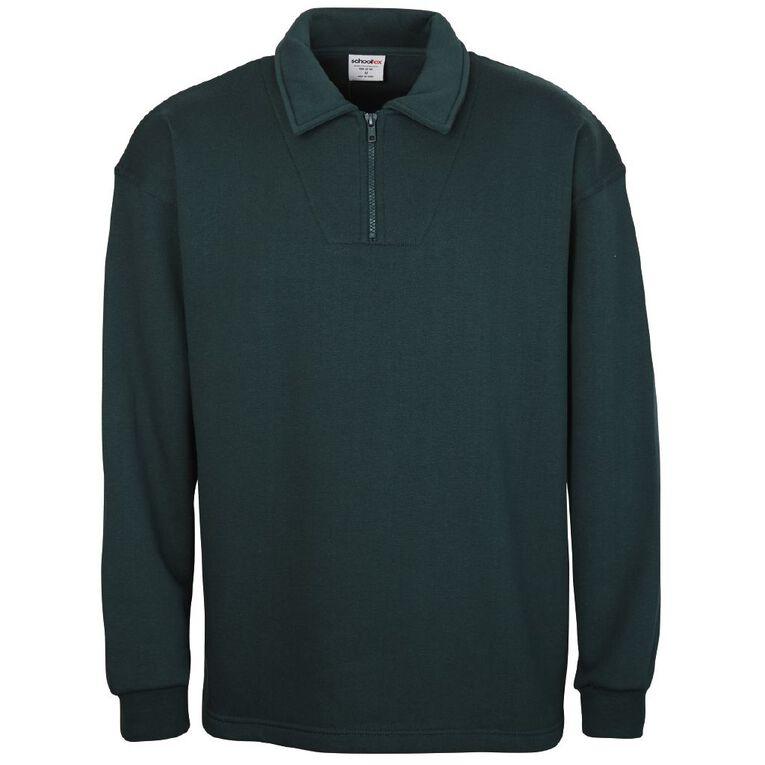 Schooltex Kids' Zip Fleece Tunic, Bottle Green, hi-res