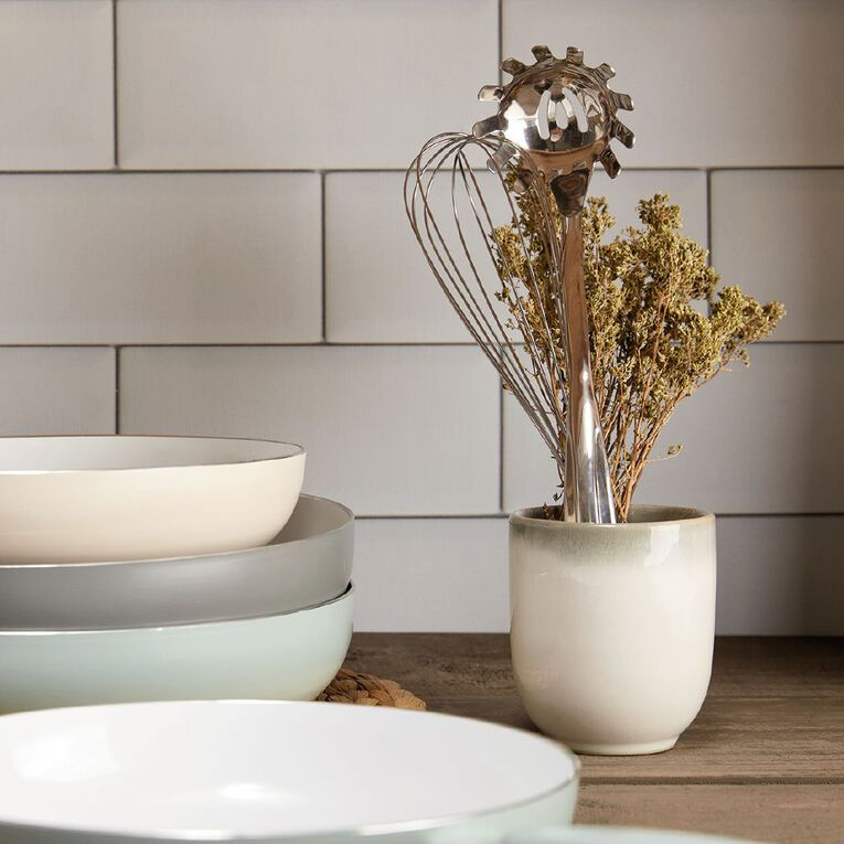 Living & Co Ceramic Frypan Grey 28cm, , hi-res