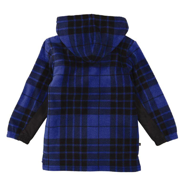 Back Country All Over Print Sherpa Hood Sweatshirt, Blue, hi-res