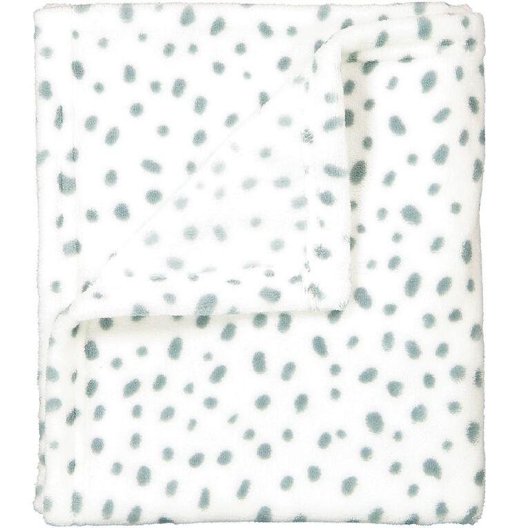 Babywise Blue Speckle Coral Fleece Blanket, , hi-res