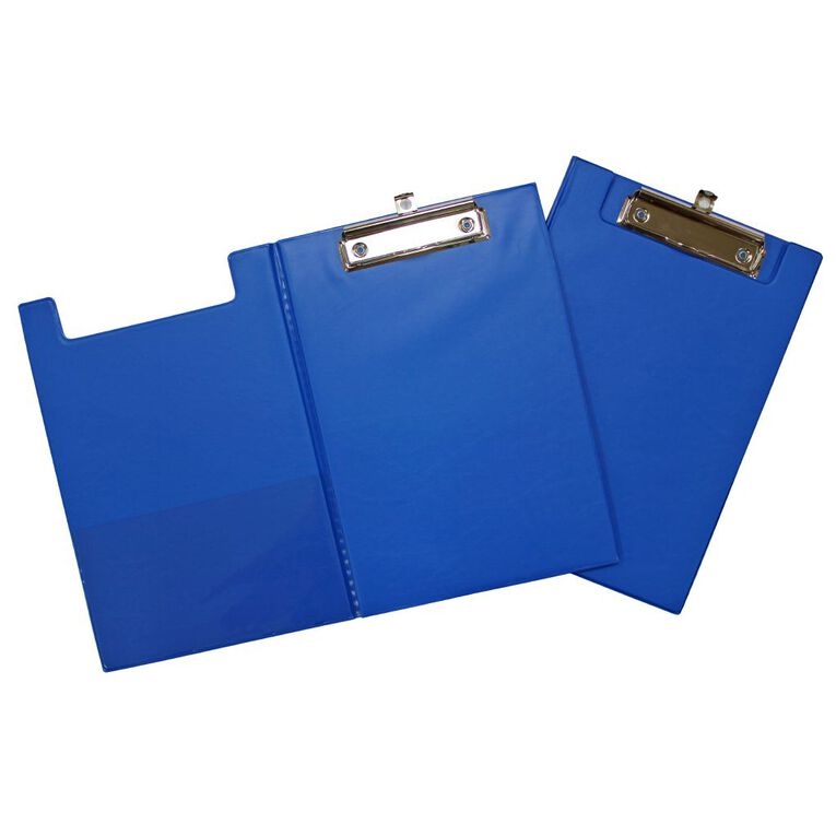 GBP Stationery Pvc Double Clipboard Blue A5, , hi-res