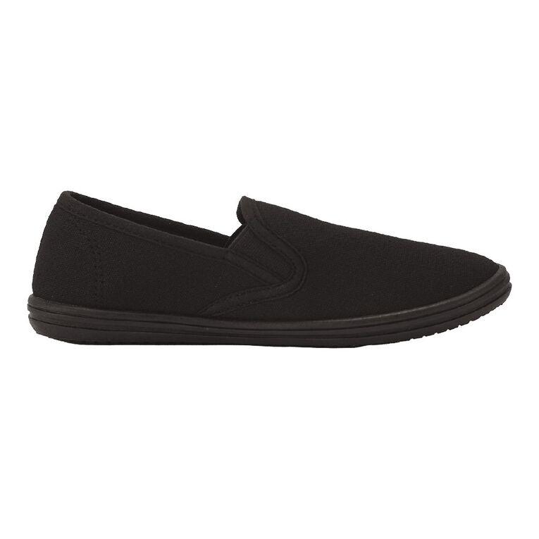 Young Original Kids' Ninja Canvas Shoes, Black, hi-res image number null