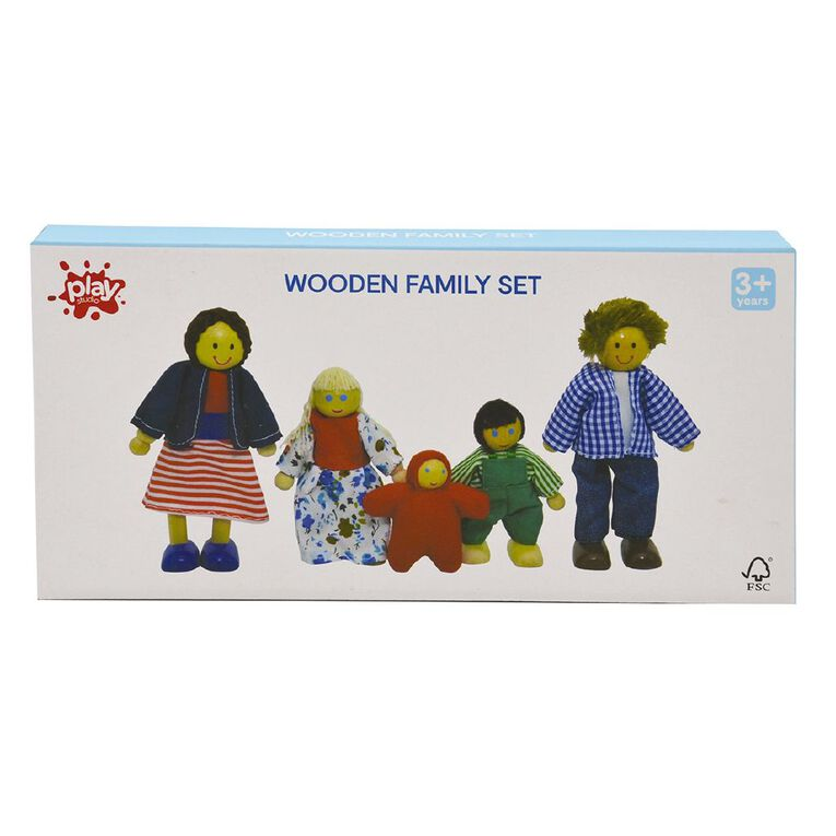 Play Studio Wooden Doll Family Set, , hi-res