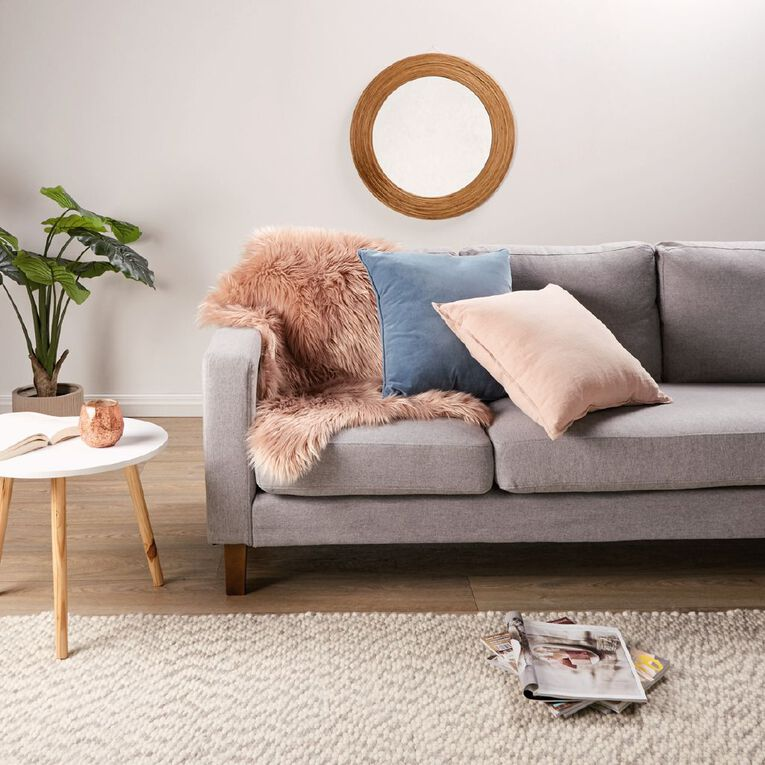 Living & Co Tulsa 3 Seater Corner Sofa with Chaise Grey, , hi-res